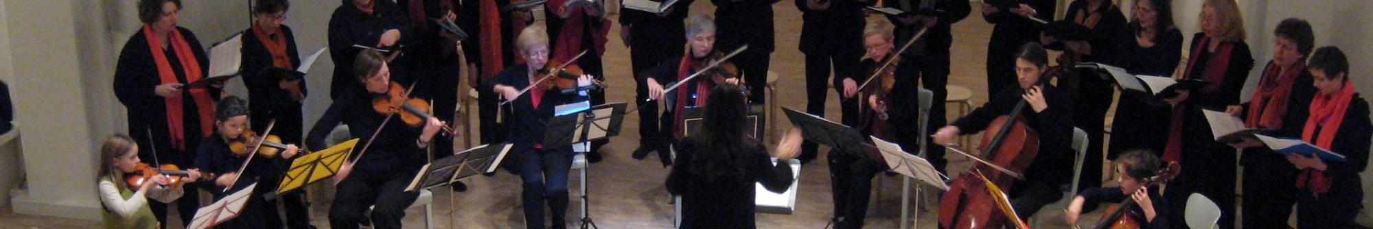 Kleines Kantatenorchester Altona beim Offenen Singen in der Kirche der Stille 2011