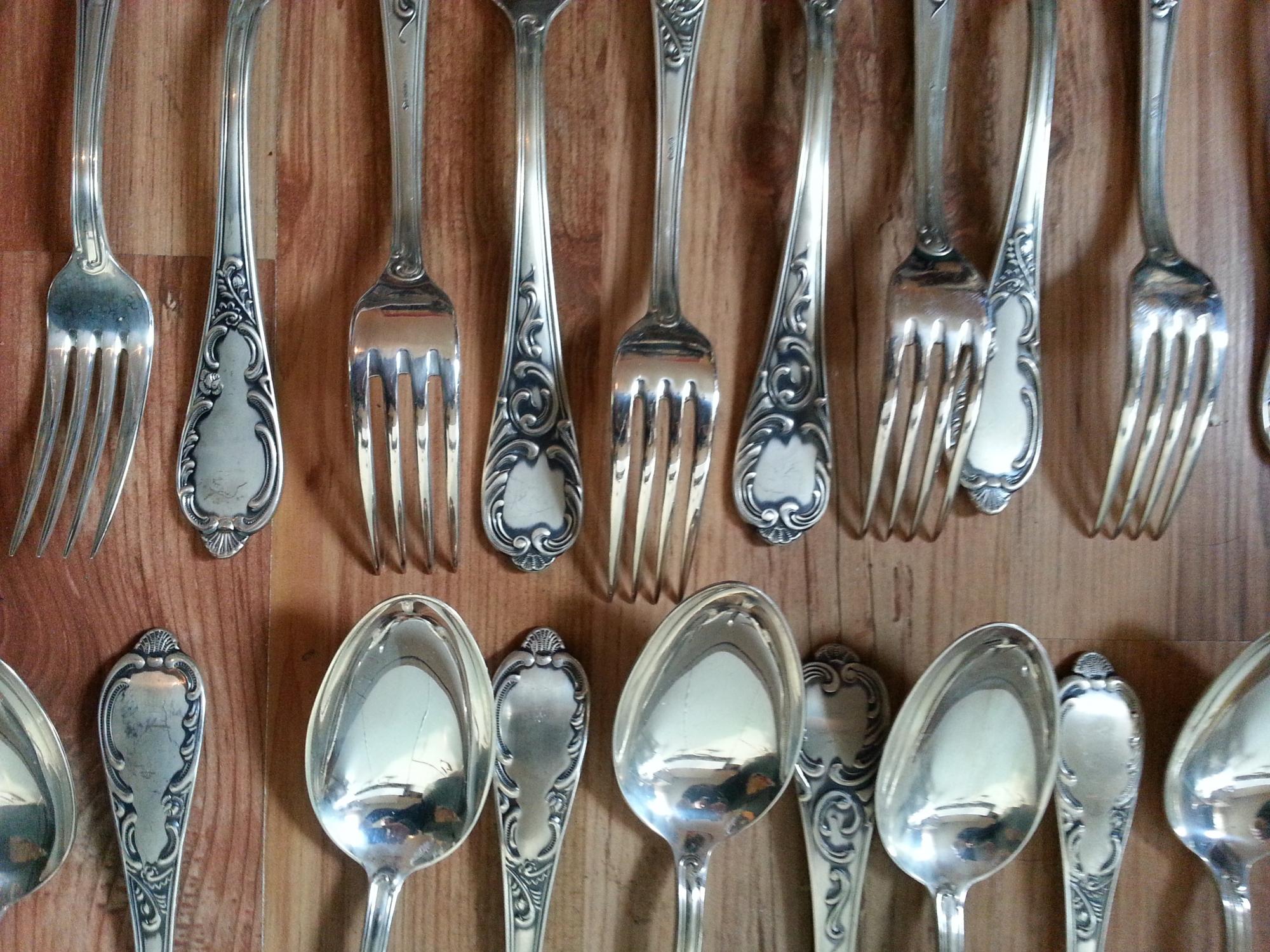 Besteck Rokoko 100er Silberauflage