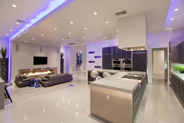 modernes haus wohnzimmer modern einrichten mit stilmöbel . deko